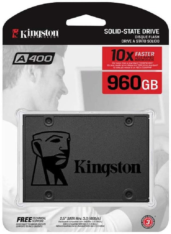 "Kingston Digital A400 SSD 960GB SATA 3 2.5"" Solid State Drive A400S37 - New - Razzaks Computers - Great Products at Low Prices"