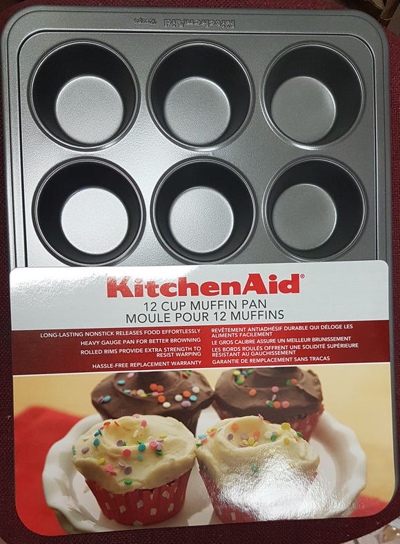 KitchenAid 12 Cup Muffin Pan Nonstick - Razzaks Computers - Great Products at Low Prices