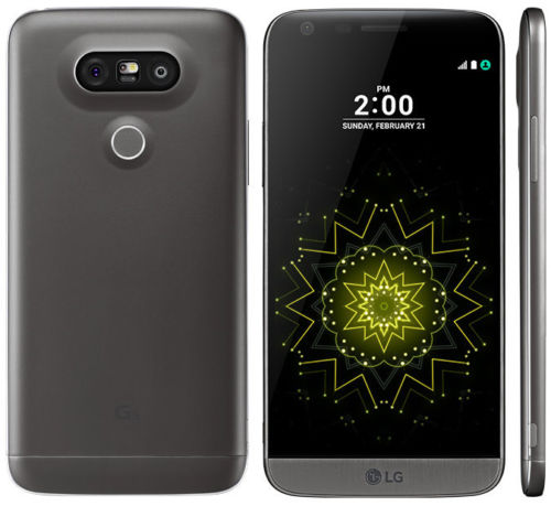 LG G5 LG-H820 Phone, 4 GB RAM, 32 GB Titan, 16MP, 8MP Unlocked  - Gray - Used
