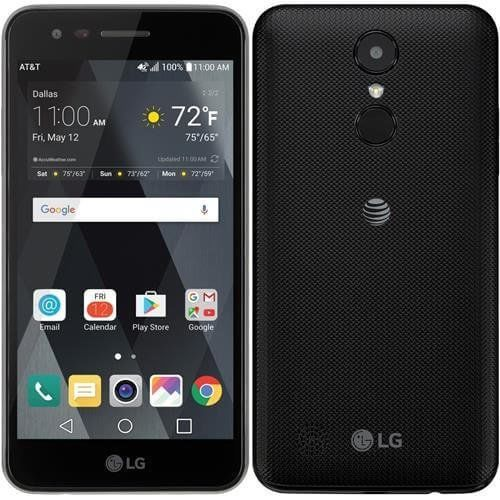 LG Phoenix 3 4G LTE with 16GB Memory Prepaid Cell Phone Unlocked - Black