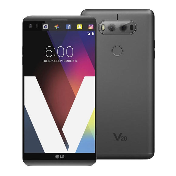 LG V20 LS997 4GB RAM, 64GB Titan Gray 16 MP Android 4K Ultra HD Smartphone Unlocked