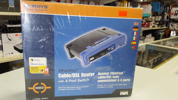 Linksys BEFSR41 V3 EtherFast Cable/DSL Router With 4-Port Switch In Retail Box - BRAND NEW
