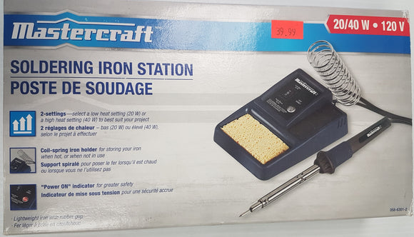 Mastercraft Soldering Iron Station 20/40W 120V - New - Razzaks Computers - Great Products at Low Prices