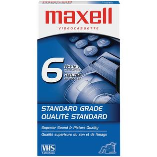 Maxell VHS Video Cassette T120 - 120 Minutes 6 Hours EP Mode - New - Razzaks Computers - Great Products at Low Prices