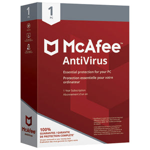 McAfee AntiVirus 2018 (PC/Android) - 1 User - 1 Year - English