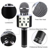 WS858 Portable Bluetooth Karaoke Handheld Wireless Microphone Professional Speaker - Razzaks Computers - Great Products at Low Prices