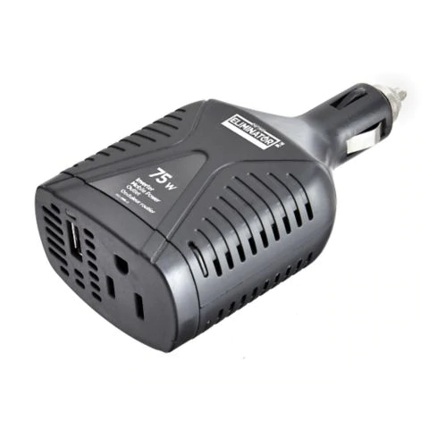 MotoMaster Eliminator 12V DC to 120V AC 75 watts for Cars, Trucks etc Charge and Run devices - New
