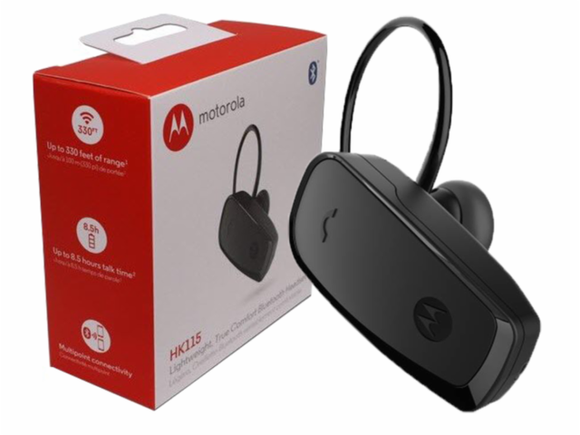 Motorola HK115 Lightweight Bluetooth Wireless Headset For Smart Phones - Brand New - Razzaks Computers - Great Products at Low Prices