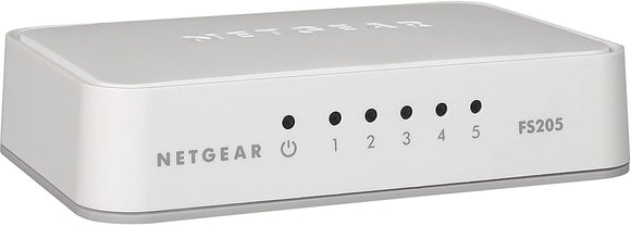 NETGEAR 5-Port Fast Ethernet 10/100 Unmanaged Switch (FS205) - NEW