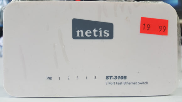 Netis 5-Port Gigabit Ethernet Desktop Switch (ST3105) - Refurbished