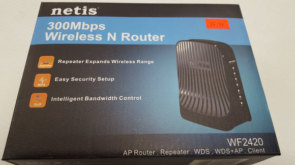 Netis 300 Mbps Wireless N Router WF2420 - NEW