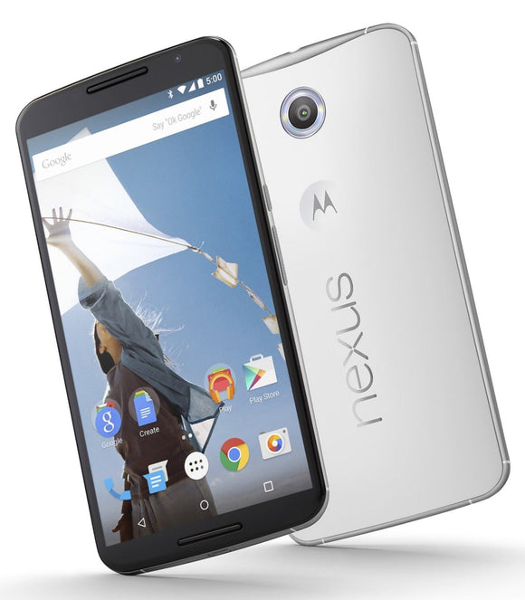 Motorola Nexus 6 Model  XT1100 32GB Cloud White (Unlocked) GSM Smartphone 4G LTE - Brand New - Razzaks Computers - Great Products at Low Prices