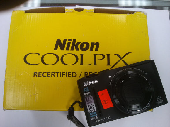 Nikon COOLPIX S8100 12.1MP Full HD Digital Camera Black - USED - Razzaks Computers - Great Products at Low Prices