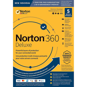 Norton 360 Deluxe 50 GB, 5 Device, 1-Year [Download] - Razzaks Computers - Great Products at Low Prices