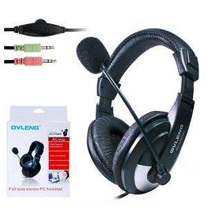 Ovleng OV-L750MV Headphone with Microphone with Two 3.5 mm jacks for PCs - BRAND NEW