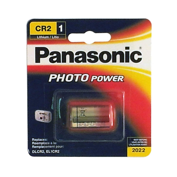 Panasonic CR-2PA/1B 3V  3V Photo Lithium Cylinder 3000mAh Battery Retail Pack - Single - Razzaks Computers - Great Products at Low Prices