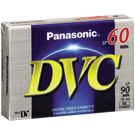 Panasonic DVC Mini Digital Video Cassette MiniDV SP 60 Minutes, LP 90 Minutes - New - Razzaks Computers - Great Products at Low Prices