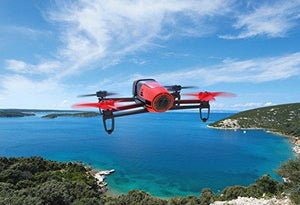 Parrot BeBop Drone 14 MP Full HD 1080p Fisheye Camera Quadcopter (Red)