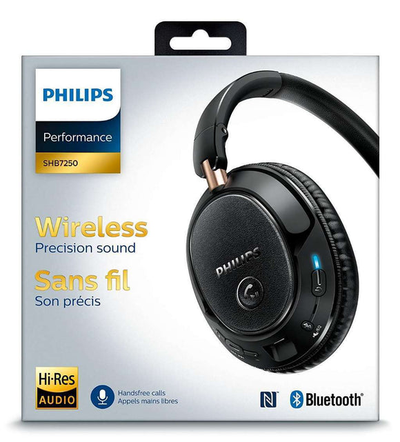 Philips Wireless Precision Sound Bluetooth Headphone, Black (SHB7250/27) - OPEN BOX - Razzaks Computers - Great Products at Low Prices