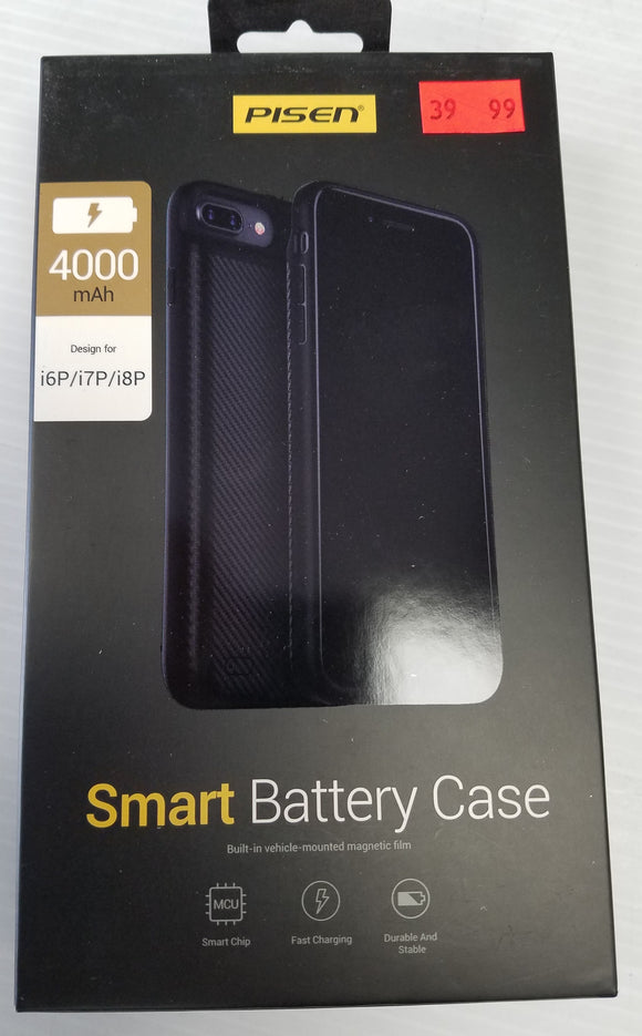 Pisen Smart Battery Case for iPhone 6+ Plus, iPhone 7+ Plus, iPhone 8+ Plus 4000mAh - Razzaks Computers - Great Products at Low Prices