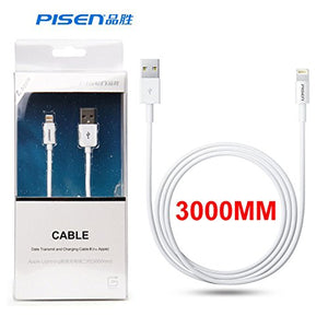 Pisen Lightning to USB Charging and Sync Cable for iPhone, Ipad [Apple MFi Certified] - Razzaks Computers - Great Products at Low Prices