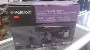 Polaroid Under Cabinet Kitchen iPhone-iPod 4/4S Docking Clock Radio - Razzaks Computers - Great Products at Low Prices