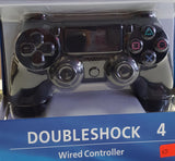 PlayStation 4 DualShock 4 Replacement Wired Controller - Jet Black - New