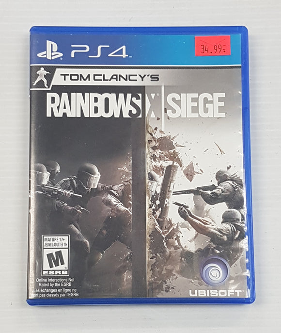 Tom Clancy's Rainbow Six Siege - PlayStation 4 PS4 - Standard Edition - Used - Razzaks Computers - Great Products at Low Prices