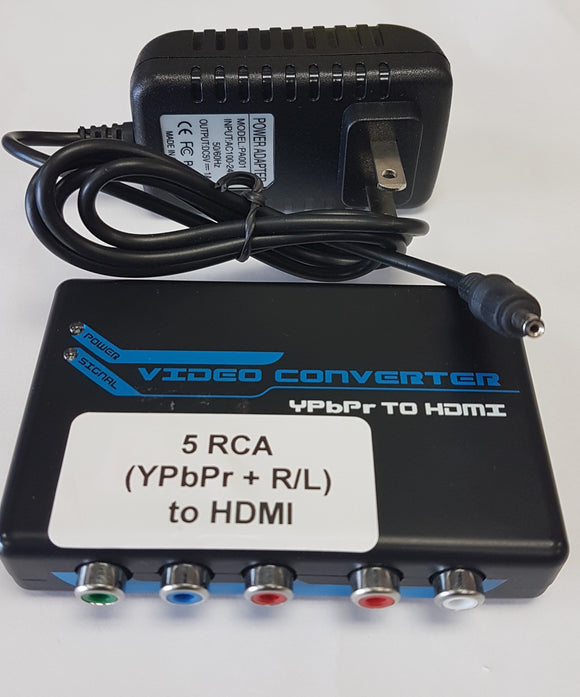 RCA 5 (YPbPr + R/L) AV to HDMI Converter for HDTV - New - Razzaks Computers - Great Products at Low Prices