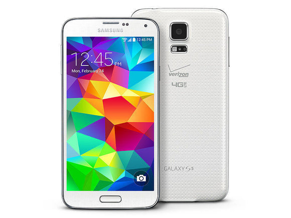 Samsung Galaxy S5 SM-G900T White 16GB Unlocked - Used