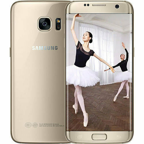 Samsung Galaxy S7 Edge, 32 GB, Unlocked Cell Phone, SM-G935W8 Gold - Used