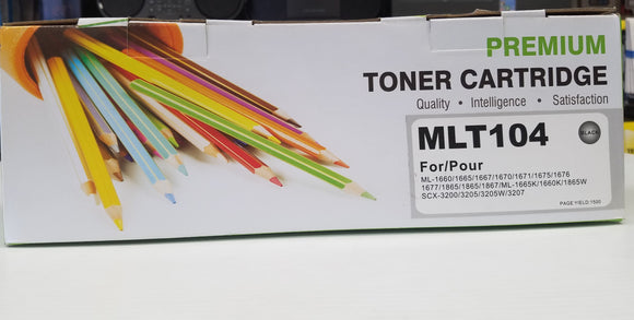 Samsung compatible Toner Cartridge MLT104 for ML-1660 SCX 3200 - New