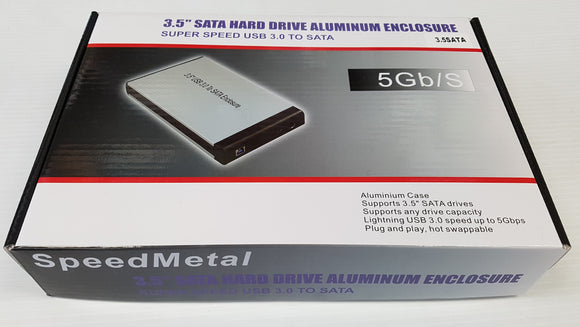SATA 3.5 Hard Drive aluminum Enclosure USB 3.0 to SATA - New - Razzaks Computers - Great Products at Low Prices