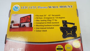 "SD Universal Tilt LCD LED TV Wall Mount 19"" to 42"" Model EL-9233 - Razzaks Computers - Great Products at Low Prices"