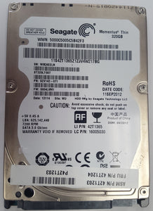 "Seagate, Western Digital, Hitachi and other  320 GB SATA Hard Drives 2.5"" for Laptops, Notebooks - - Razzaks Computers - Great Products at Low Prices"