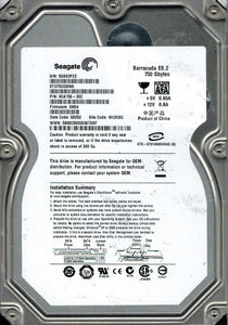 Seagate 750 GB SATA Hard DriveST3750330NS 750GB P/N: 9CA156-302 - USED - Razzaks Computers - Great Products at Low Prices
