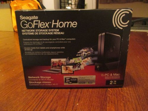 Seagate GoFlex Home 2TB Network Storage System External Hard Drive - BRAND NEW
