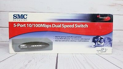SMC-EZ6508TX 8-Port 10/100Mbps Standalone, Unmanaged SOHO Switch- NEW