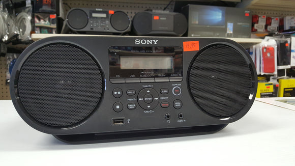 Sony ZS-RS60BT CD Boombox W/ Bluetooth, NFC, AM/FM, USB, Headphone/Line-in Jacks - Open Box - Razzaks Computers - Great Products at Low Prices