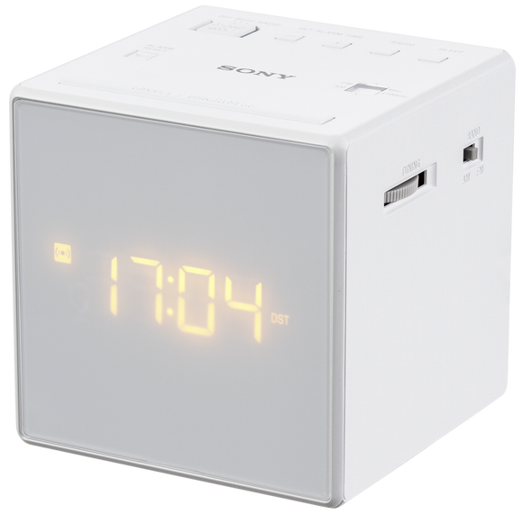 Sony ICF-C1 Alarm Clock Radio, White - Seller Refurbished - Razzaks Computers - Great Products at Low Prices
