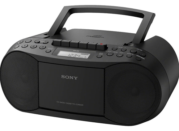 Sony CFD-S70 Personal Audio System CD MP3 Cassette FM/AM Portable Boombox - Refurbished