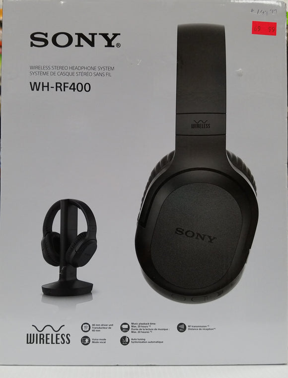Sony WH-RF400 Over-Ear Sound Isolating Wireless RF Stereo Headphones - Black - Open Box - Razzaks Computers - Great Products at Low Prices