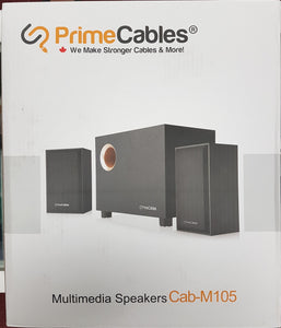 Multimedia 2.1 Stereo Speakers with Sub-woofer 3.5 mm male jack for PCs and Mac - Black - Razzaks Computers - Great Products at Low Prices