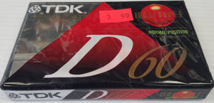 TDK High Precision Audio Cassette Tape Normal 60 Minutes D60 - New - Razzaks Computers - Great Products at Low Prices