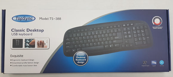 Topsync Classic Desktop USB Wired Keyboard Model TS-388 - New - Razzaks Computers - Great Products at Low Prices