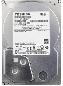 "Toshiba 3.5"" DT01ABA200V 2TB 5700RPM SATA3 32M Cache Desktop Internal HDD - USED - Razzaks Computers - Great Products at Low Prices"