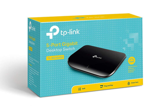 TP-Link TL-SG1005D 10/100/1000Mbps Port Gigabit Desktop Switch, 10Gbps Capacity - NEW