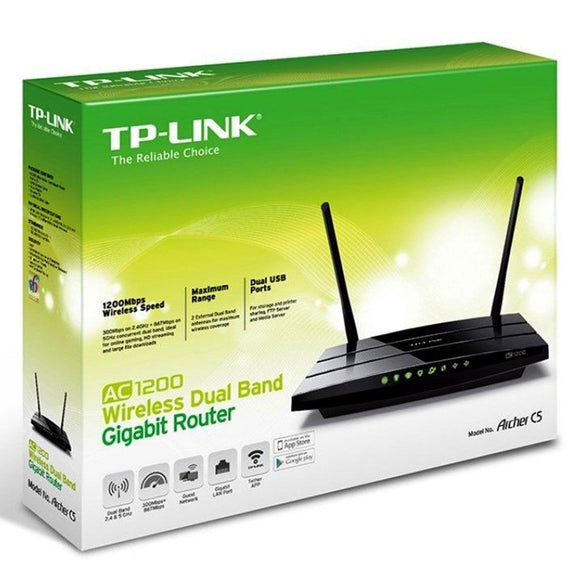 TP-LINK Archer C50 AC1200 Wireless Dual Band Gigabit Router Wifi Linux Mac Windows - BRAND NEW - Razzaks Computers - Great Products at Low Prices