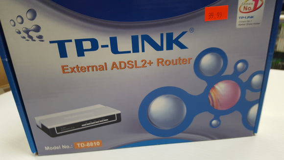 TP-LINK TD-8810 External ADSL Router Ethernet Port - New - Razzaks Computers - Great Products at Low Prices