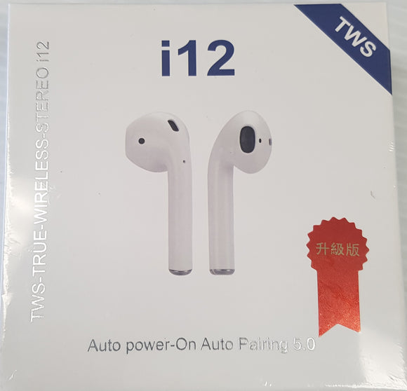 TWS i12 - rue Wireless Stereo i12 Wireless Earphone, Earpods - New - Razzaks Computers - Great Products at Low Prices